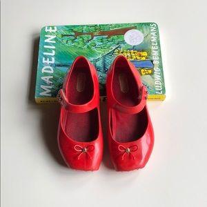 Mini Melissa | Glossy Red Ballet Maryjanes | 9